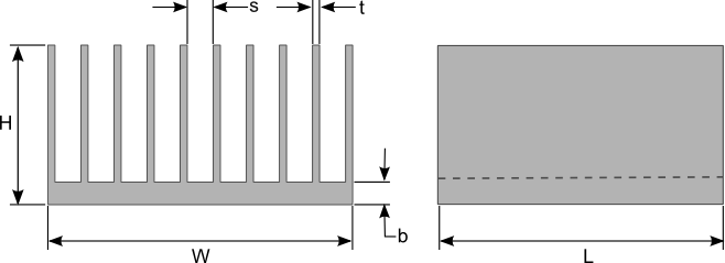 Sizing Heat Sinks Using A Few Simple Equations Heat Sink Calculator Blog Focused On Heat Sink Analysis Design And Optimization
